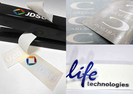 Vinyl Cut Adhesive Labels, vinyl cut graphic application