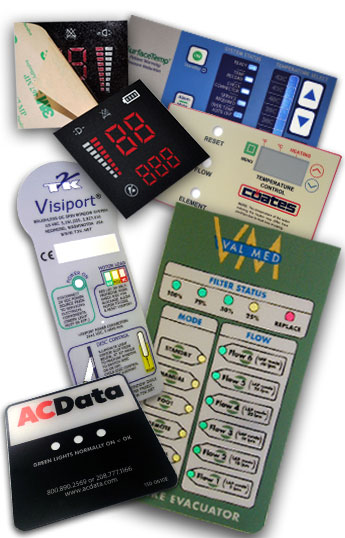 Clear Window Display Equipment Labels